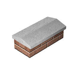 Coping Stone Twice Weathered – Straight 355mm